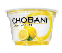 Chobani Nonfat Lemon Yogurt - Yum, yum, yum... This, along with the Blood Orange, is one of my two favorite Chobani yogurts. It is refreshing and I have to be careful not to have too many of them in the house at one time as it is totally addictive!