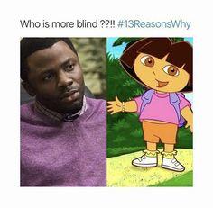 Mr. Porter is blind as shit. 13 reasons why meme • pinterest & instagram - @ninabubblygum •