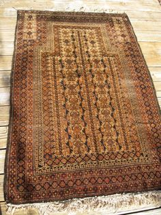 ANTIQUE DATED 1902 BELOUCH PRAYER RUG WITH GREAT COLORS FINE RUG   eBay