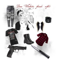 """""""Dean Winchester outfit woman"""" by castielsminion6 on Polyvore featuring Smith & Wesson, Hollister Co., Topshop, Philosophy di Lorenzo Serafini and Hermès"""