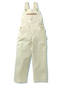 9be03ae619a White Drill Overalls--these classis high-back painter overalls are made of  100% cotton with traditional arrowhead backs. Adjustable straps