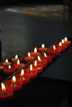 Fine Art Photography print Red candles in a от IzzyVerena на Etsy