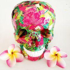 a hand crafted Skullamour skull Made in Port Douglas Australia