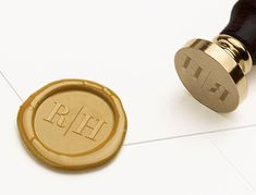 Monogram Wax Seal Stamp, Initials Wax Stamp, Contemporary Wax Seal, Minimal Wax Seal, Wedding Invitation Wax Seal, Wedding Stamp (WMONO103)