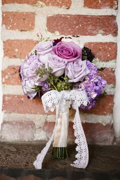 Rustic #Hand-tied #purple #bouquet ... #purple #wedding … Wedding #ideas for brides, grooms, parents & planners https://itunes.apple.com/us/app/the-gold-wedding-planner/id498112599?ls=1=8 … plus how to organise an entire wedding, within ANY budget ♥ The Gold Wedding Planner iPhone #App ♥ For more inspiration http://pinterest.com/groomsandbrides/boards/ #fuchsia #plum #indigo beauti shade, bridal bouquets, shades of purple, purple bouquets