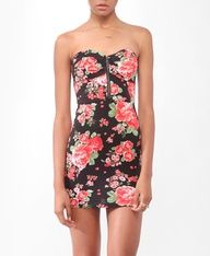 Floral Bustier Tube Dress  $14.80