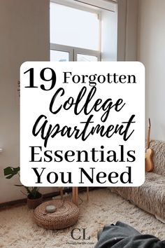 These are the best college apartment essentials. I love the living room college apartment ideas! I used this to help make my college apartment checklist. #college #apartment