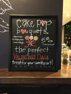 Cake pop bouquets #barista #starbucks #chalkboard