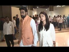 Aishwarya Rai with Abhishek Bachchn at Suniel Shetty's father Veerapa Shetty's prayer meet. Aishwarya Rai Latest, Prayer Meeting, Gossip, Interview, Father, Photoshoot, Youtube, Pai, Photo Shoot