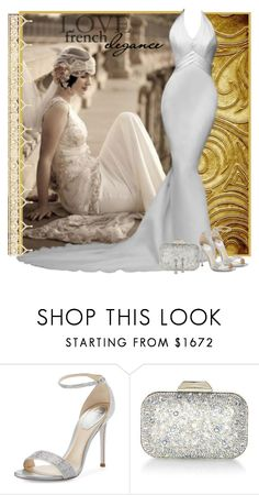 Wedding elegance by fashionrushs on Polyvore featuring René Caovilla, Jimmy Choo and Gatsby