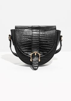 Crocodile embossed bag, chic accessories // & Other Stories