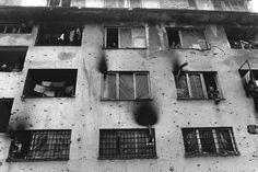 War torn buildings