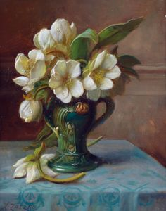 Floral still lifes by Austrian artist Hans Zatzka Paintings