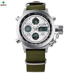 Honesty Mens Multifunctional Practical Date Display Led Digital Sport Quartz Analog Military Wrist Watch Smart Watch Watches