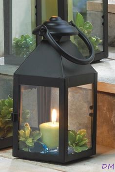 24 Small Americana Revere Matte Black Candle Lanterns Wedding Centerpieces #Unbranded