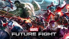 MARVEL Future Fight - The Avengers.the Guardians of the Galaxy! You can unite the greatest heroes from all corners of the Marvel Universe for the epic battle that will decide the fate of all realities - MARVEL Future Fight! Marvel Now, Marvel Heroes, Marvel Avengers, March Of Empire, Marvel Future Fight, Marvel Fight, Contest Of Champions, Game Update, Marvel Cosplay