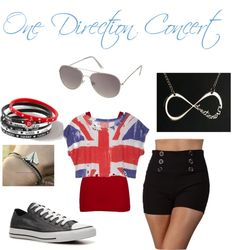 """One Direction Concert"" by tessie-styles ❤ liked on Polyvore"