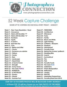 52 Week Capture Challenge