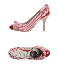 959eeb3ee6b Replay black and white stripe and gingham closed-toe slip-ons Replay on YOOX