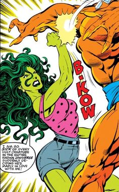 She-Hulk Kicking Butt in The Incredible Hulk #412