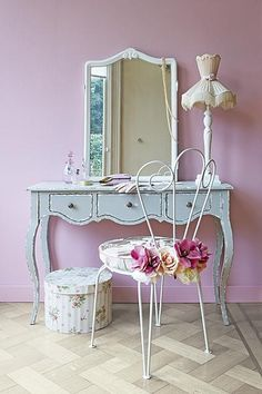 recycled old garden chair, now used in the bedroom