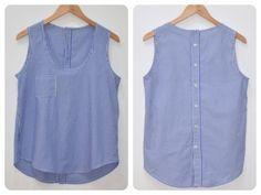 Una blusa como esta es el resultado de aprovechar una camisa que ya nadie usa. #recicla #tela #camisa
