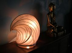Table Wave by William Leslie Paper Sun Light Sculpture