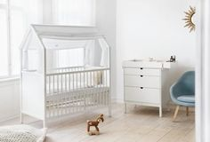 """""""Stokke Home consists of four pieces for the nursery that grow and change as your child grows."""" via DESIGN MILK"""