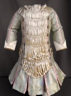 "Fab Dress Costume Silk Brocade for 24"" 26"" Antique French BEBE Bisque Doll 