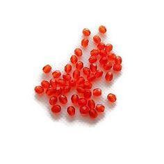Perles de verre à facettes rouge  4x3 mm x 51