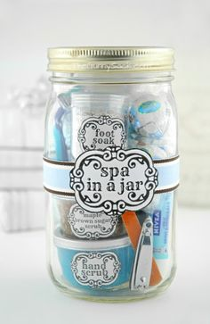spa in a jar gift idea