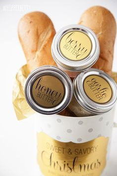 Sweet and Savory Butters with Free Printable via @Heather Creswell Creswell // Whipperberry featured on iheartnaptime.com ...would make a great gift for the holidays!