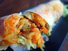 Vegetarian popiah; chilli-free or with a fiery kick, at ARTside Gallery & Cafe in St. Mary Residences, KLCC.