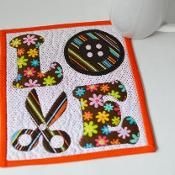 LOVE Sewing Mug Rug Pattern - via @Craftsy