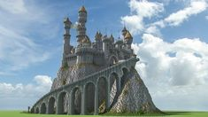 Castle with Dragons Minecraft Project - Baustil Minecraft Tower, Minecraft Castle Blueprints, Minecraft Villa, Minecraft Kingdom, Minecraft Mansion, Minecraft Structures, Minecraft Plans, Amazing Minecraft, Minecraft Tutorial