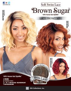 Luxe Beauty Supply - Isis Brown Sugar 100% Human/Syn Swiss Lace Wig - BS206, $59.99 (http://www.lhboutique.com/isis-brown-sugar-100-human-syn-swiss-lace-wig-bs206/)
