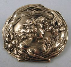 Beautiful-Unger-Brothers-Sterling-Silver-Art-Nouveau-Pin