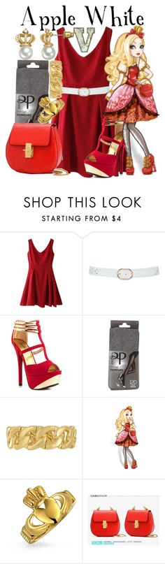 """""""Apple White (Ever After High)"""" by fabfandoms ❤ liked on Polyvore featuring M&Co, Qupid, Pretty Polly, Taya, Bling Jewelry, BeiBaoBao and Juicy Couture"""