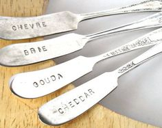 Peace Fork Peace Sign Hand Stamped Pickle Olive Fork Meat
