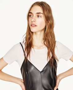 Image 2 of FAUX LEATHER MINI DRESS from Zara