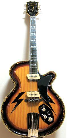 Jazzgitarren - BIANKA 2005 (#003) Sunburst Electric Model
