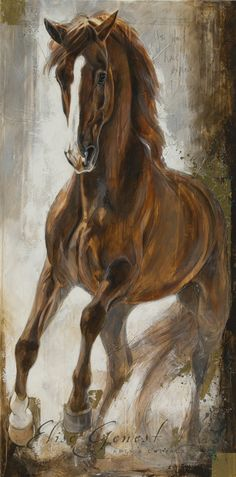 The Red Stallion Painted Horses, Horse Artwork, Exotic Art, Tiger Art, Horse Drawings, Cowboy Art, Animal Paintings, Horse Paintings, Animal Sketches