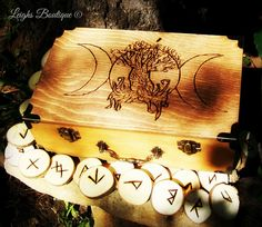 Triple Goddess Tree of Life Keepsake Box by leighswiccanboutique