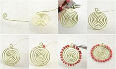 All Free Jewelry Making for You- How to Make a Wire Necklace in a Sunflower Pattern – Pandahall