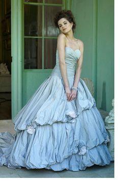 Ian Stuart Bride: break away from traditional, puritan white wedding dresses, and add a splash of colour to your big day with these dramatic statement wedding dresses.