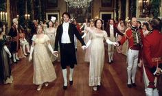 excellent detail about Regency dance - Darcy and Elizabeth at Ball