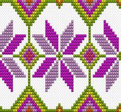 112 PONTOS crochet wayuu bags motives pattern Tapestry Crochet Patterns, Weaving Patterns, Mosaic Patterns, Crochet Motif, Cross Stitch Flowers, Cross Stitch Patterns, Mochila Crochet, Leather Embroidery, Free Crochet Bag