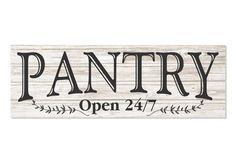Pantry Open White Rustic Wood Wall Sign - Great price appears to be well built.If you have been looking for top recommended best rustic home decor rev Rustic Wood Walls, Rustic Wood Signs, Wooden Signs, Rustic Decor, Painted Signs, Country Farmhouse Decor, Farmhouse Kitchen Decor, Farmhouse Signs, Farmhouse Style