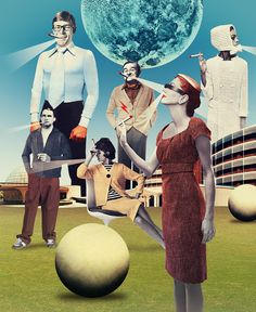 M - Julien Pacaud • Illustration • Perpendicular Dreams