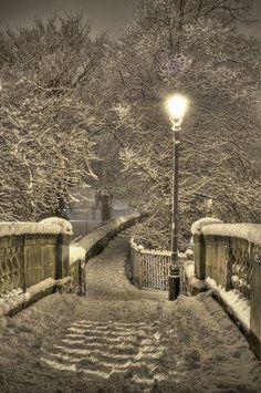 Snowy Night, Chester, England